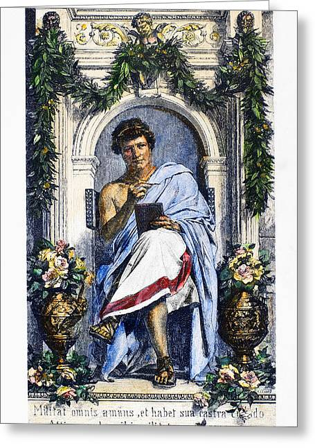 1st Century B.c. Greeting Cards - OVID (43 B.C.-c17 A.D.) Greeting Card by Granger