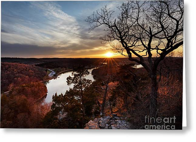 Greeting Card featuring the photograph Ozark Sunset by Dennis Hedberg