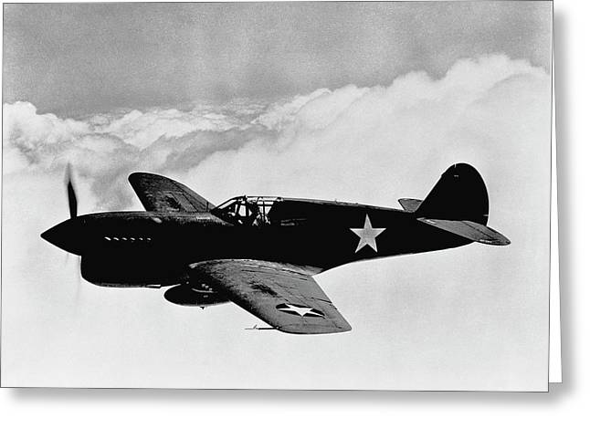 P-40 Warhawk Greeting Card by War Is Hell Store