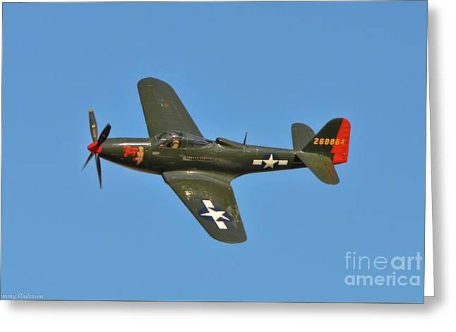 P-63 Kingcobra Greeting Card
