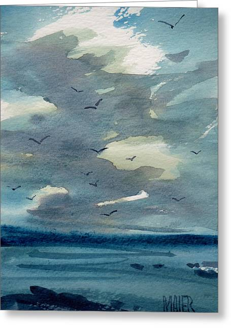 Pacific Seascape Greeting Card by Donald Maier