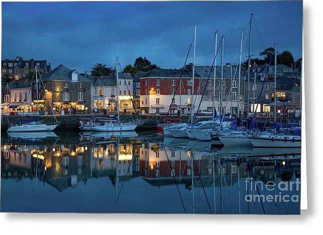 Greeting Card featuring the photograph Padstow Evening by Brian Jannsen