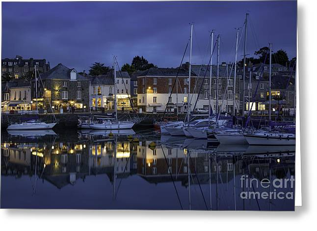 Padstow Twilight Greeting Card by Brian Jannsen