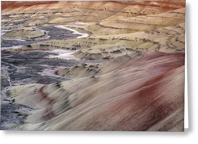 Painted Hills Greeting Card by Leland D Howard