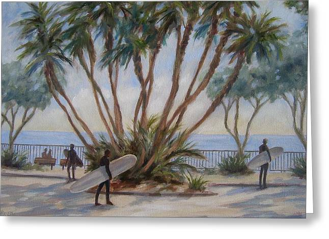 Palm By C Street Greeting Card by Tina Obrien