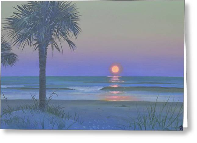 Palmetto Moon Greeting Card by Blue Sky