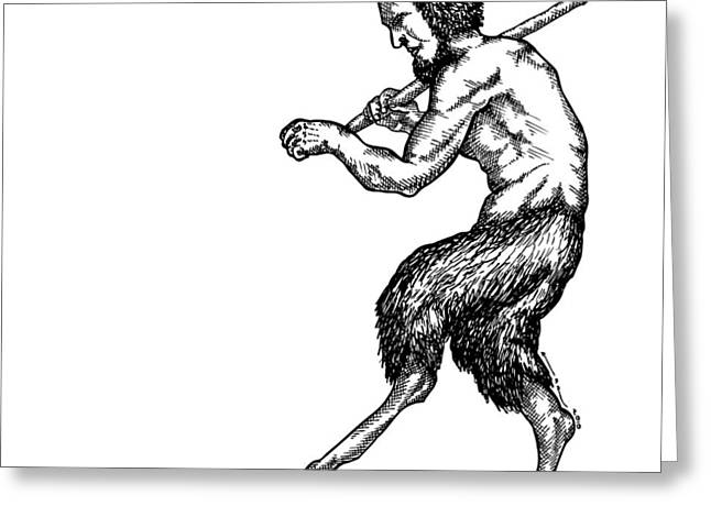 Pan Satyr Greeting Card by Karl Addison
