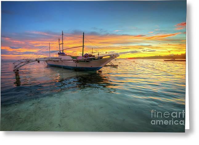 Panglao Island Sunrise Greeting Card
