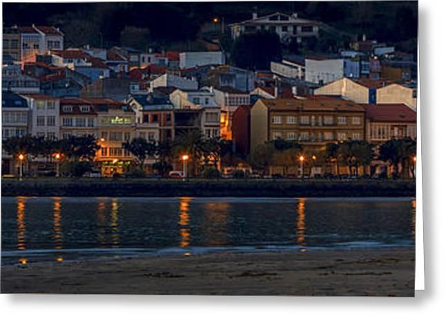 Panorama Of Cedeira Galicia Spain Greeting Card