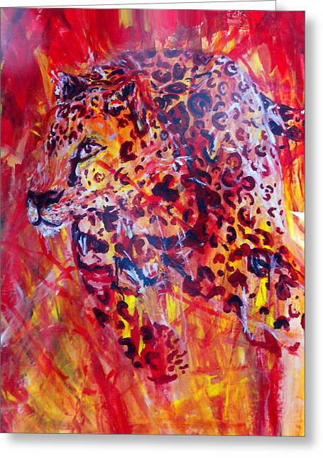Panther Greeting Card by Anne Weirich