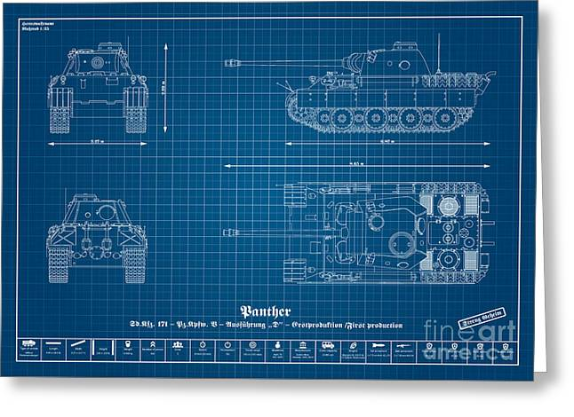 Sd. Kfz. 171. Panzerkampfwagen V - Panther Greeting Card by Marcel Thomas