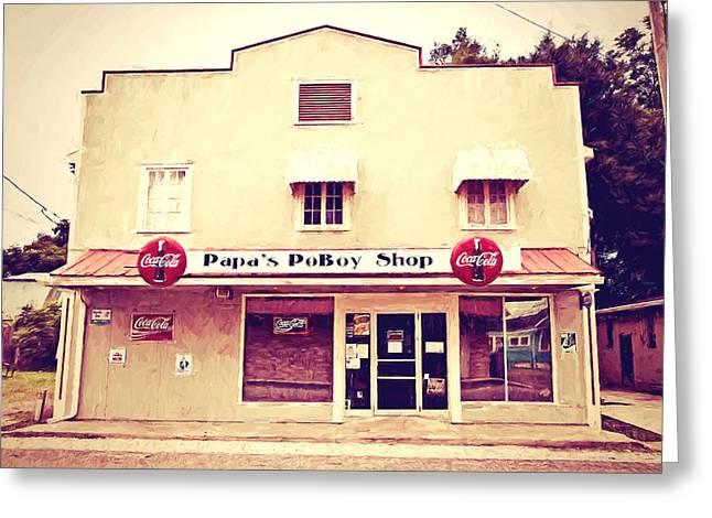 Papa's Poboy Shop Greeting Card by Scott Pellegrin