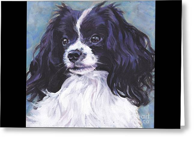 Papillon Phalene Greeting Card