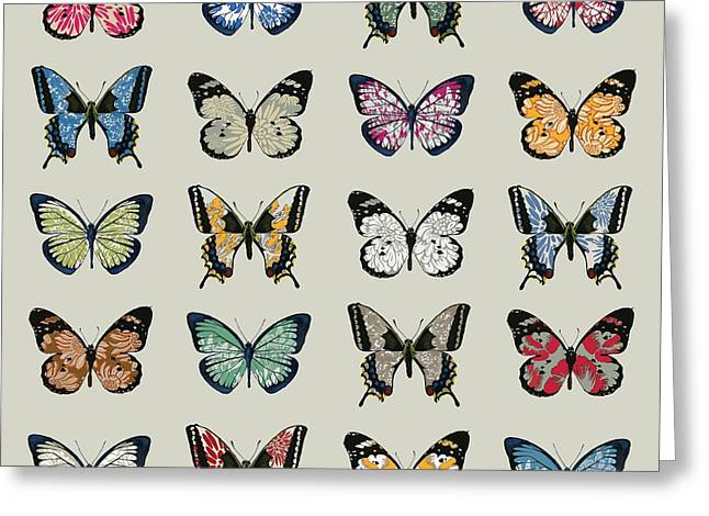 Papillon Greeting Card by Sarah Hough