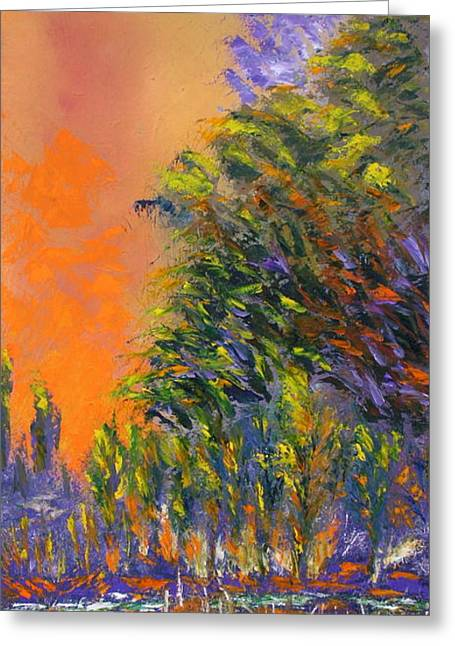 Paradise Aflame Greeting Card by Ellen Young