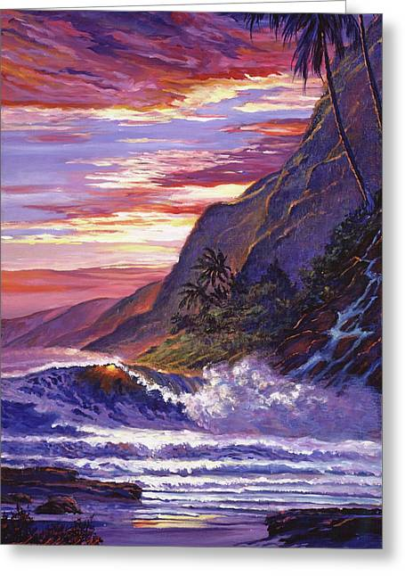 Paradise Beach Greeting Card by David Lloyd Glover