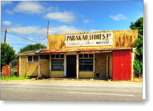 Parakoa Store New Zealand Greeting Card by Andrew Simmonds