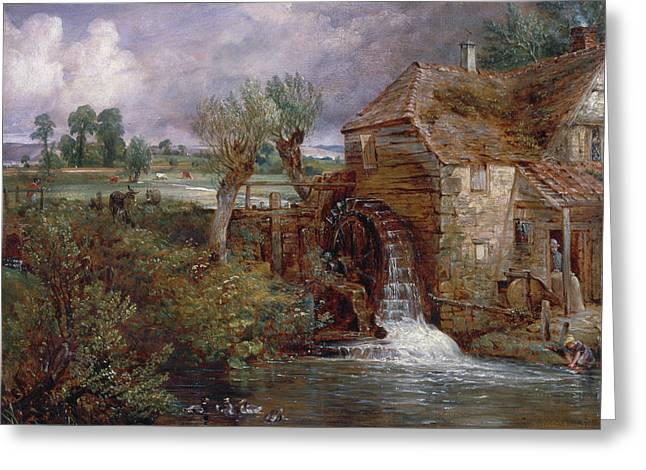 Parham Mill, Gillingham Greeting Card by John Constable