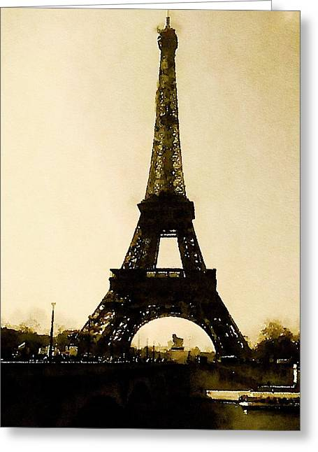 Paris By John Springfield Greeting Card by Esoterica Art Agency