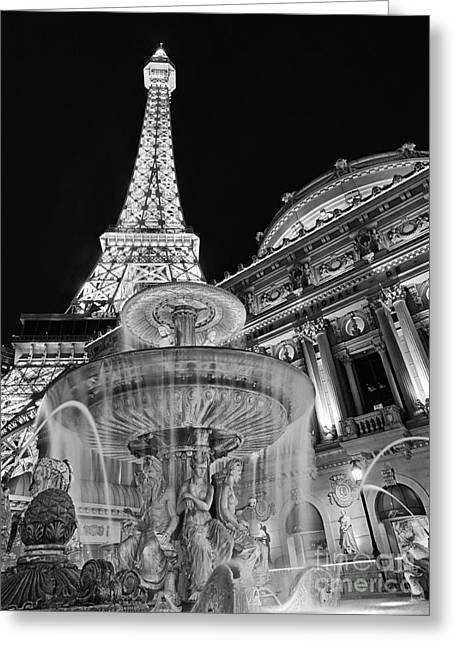 Paris Hotel And Casino In Las Vegas Greeting Card by Jamie Pham