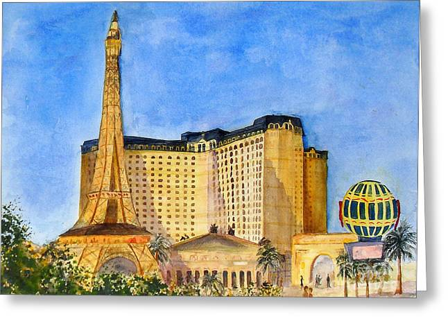 Paris Hotel And Casino Greeting Card