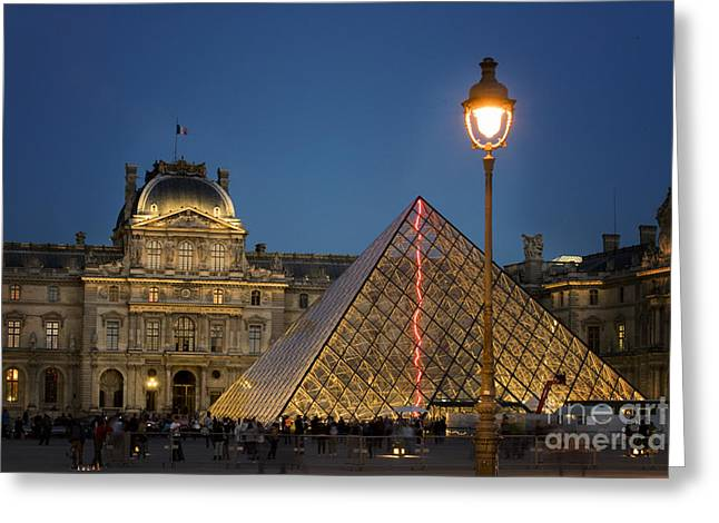 Louvre Museum At Twilight Greeting Card by Juli Scalzi