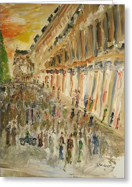 Paris Streets Greeting Card by Edward Wolverton