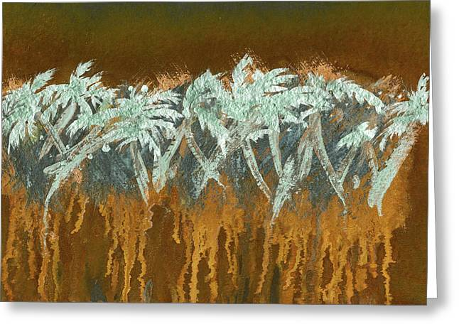 Patina Palms Greeting Card by Larry Mora