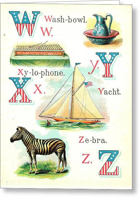 Patriot Abc Book  Page Twelve Greeting Card