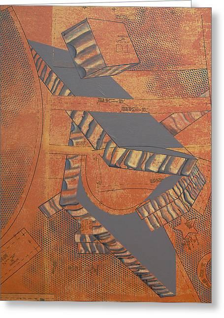 Patterns Series Number Three Greeting Card by Sonja Olson