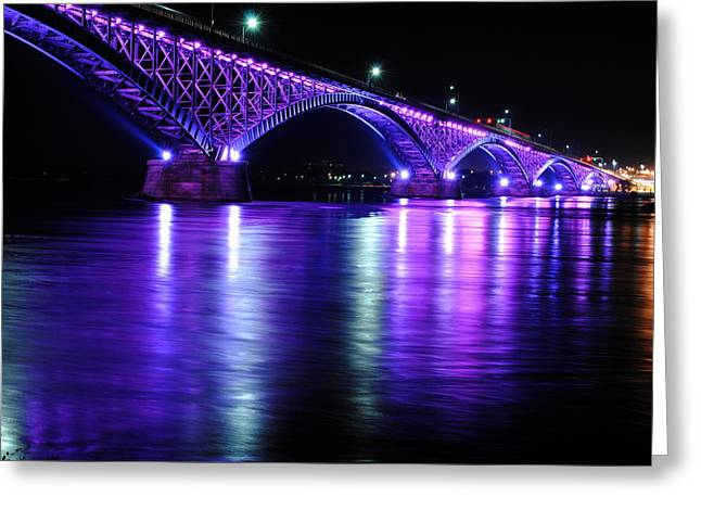 Peace Bridge Supporting Breast Cancer Awareness Greeting Card