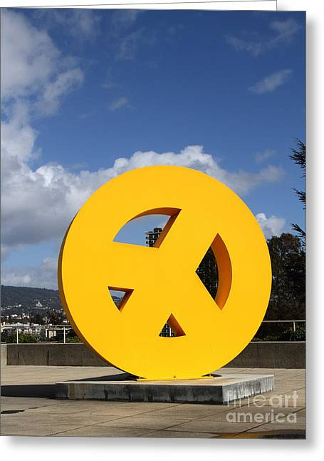Peace From The Oakland Museum . Oakland California . 7d13411 Greeting Card