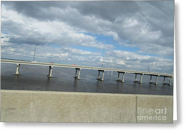 Peace River Bridge Greeting Card by Frederick Holiday