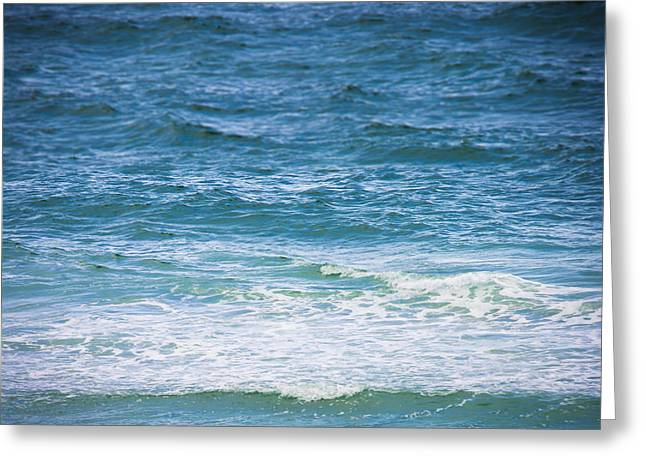 Peaceful Waves Greeting Card by Shelby Young