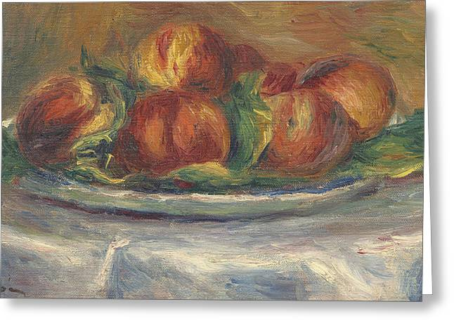 Peaches On A Plate Greeting Card