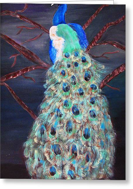 Peacock  Greeting Card by Mikki Alhart