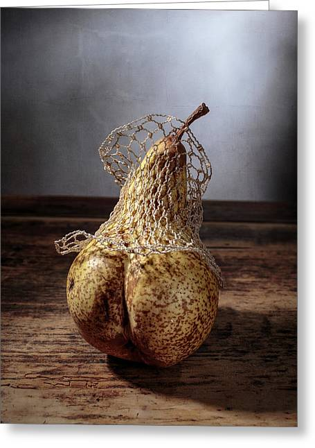 Pear Greeting Card by Nailia Schwarz