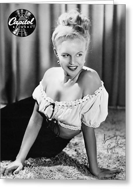 Peggy Lee (1920-2002) Greeting Card