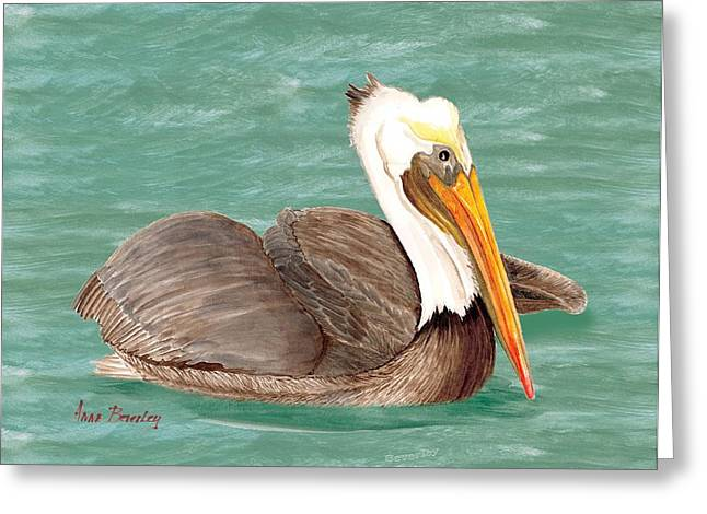 Pelican Floating Greeting Card