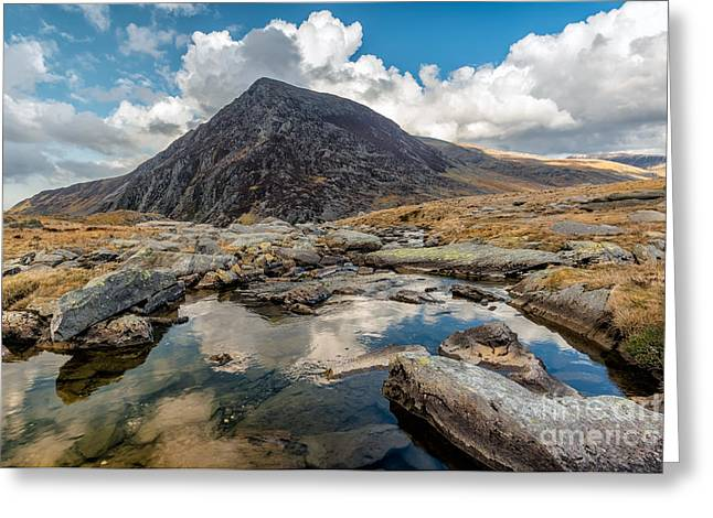 Pen Yr Ole Wen Greeting Card by Adrian Evans