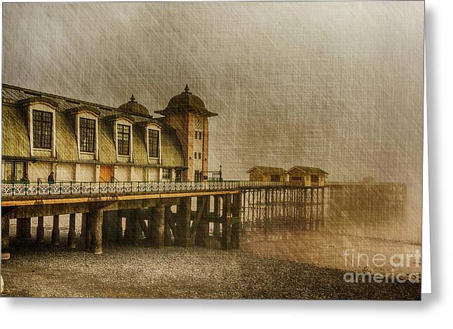 Penarth Pier Greeting Card by Steve Purnell
