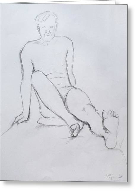 Greeting Card featuring the drawing Pencil Sketch 2.2011 by Mira Cooke