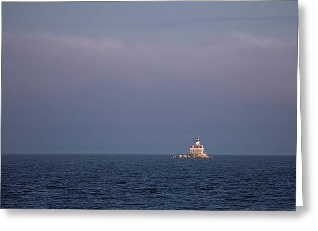 Penfield Reef Lighthouse Greeting Card by Stephanie McDowell