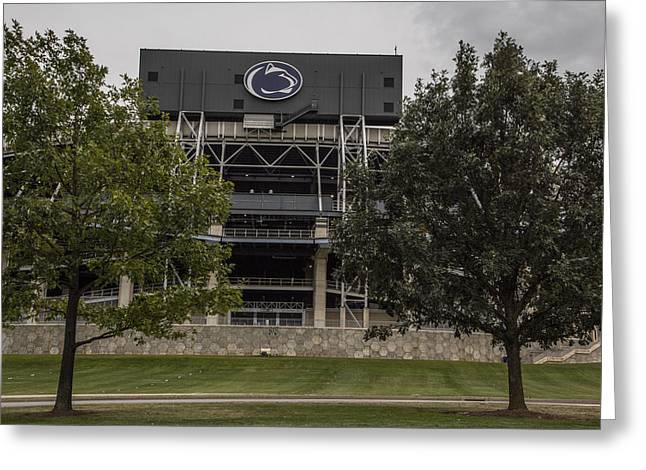 Penn State Beaver Stadium  Greeting Card by John McGraw