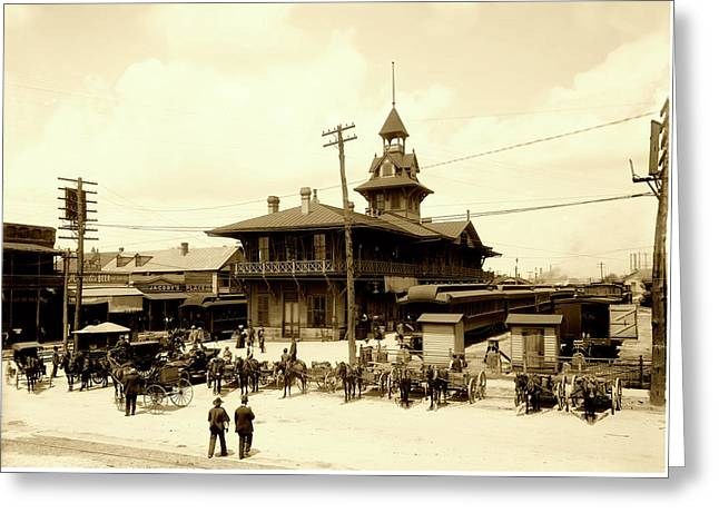 Pensacola Railway Station C1910 Greeting Card by L O C