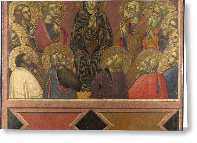 Pentecost Greeting Card by Barnaba da Modena