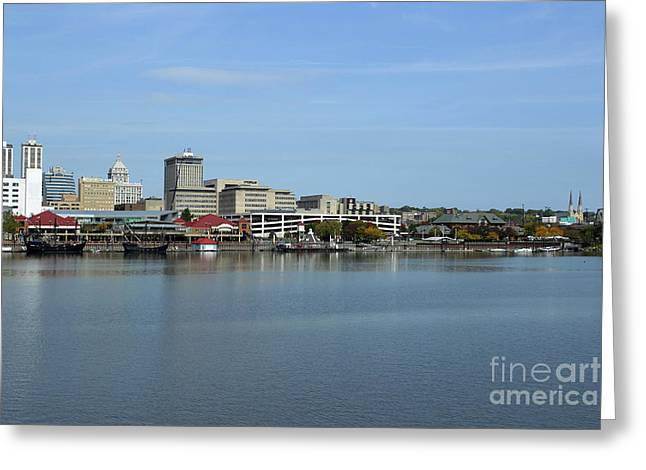 Peoria Riverfront - Pinta - Nina And Replica Greeting Card
