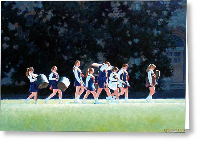 Pep Squad Greeting Card by Kevin Lawrence Leveque