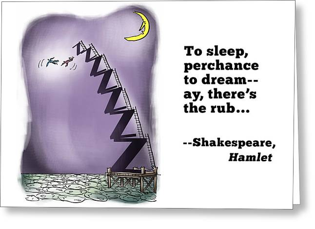 Perchance To Dream Greeting Card