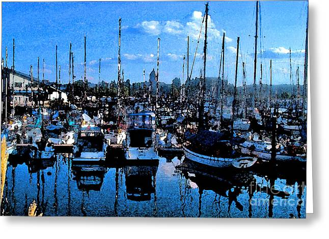 Greeting Card featuring the photograph Percival Landing by Larry Keahey